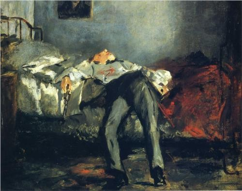 Photo:  Edouard Manet, The Suicide [1880]